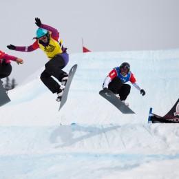 Snowboardcross-Olympiateilnehmer im Simmental