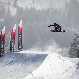 Slopestyle-Spektakel im Berner Oberland