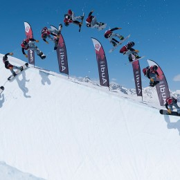 Spectacle de freestyle sur le Corvatsch