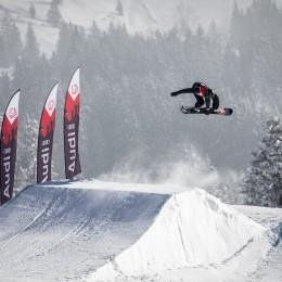 Spectacle de slopestyle dans l'Oberland bernois