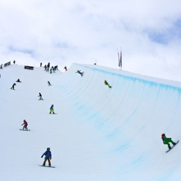 Big Air Girls battle for Number 1 WSPL at the Swiss Freestyle Champs Corvatsch