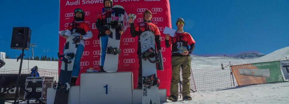 Gut besuchte Snowboardcrossrennen an der Lenk