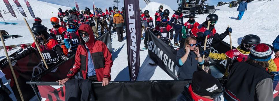 Gut besuchte Snowboard-Events trotz schwierigem Winterstart