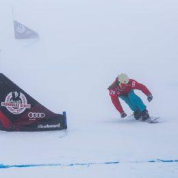 Slalom parallèle snowboard Épreuve de Coupe d'Europe à Lenzerheide
