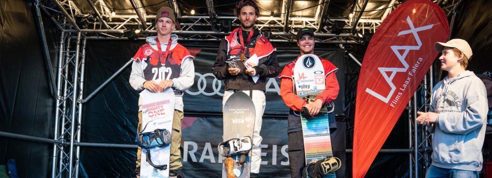 Verena Rohrer und Pat Burgener gewinnen Schweizermeistertitel in der Halfpipe