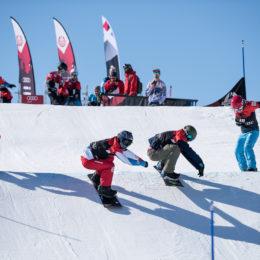 Sina Siegenthaler und Jérôme Lymann sind Schweizermeister im Snowboardcross
