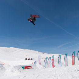 Das Schlussbouquet auf dem Corvatsch: Die Swiss Freestyle Champs